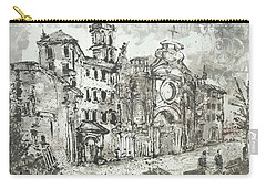 Carry-all Pouch featuring the painting Piranesi Paraphrase After Piranesi Vedute Di Roma by Martin Stankewitz