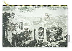 Carry-all Pouch featuring the painting Piranesi Paraphrase Campo Vaccino by Martin Stankewitz