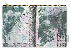 Carry-all Pouch featuring the painting Piranesi Paraphrase Colonna Antonina by Martin Stankewitz