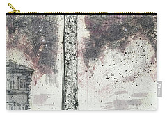 Carry-all Pouch featuring the painting Piranesi Paraphrase Egyptian Obelisk by Martin Stankewitz