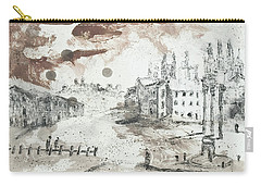 Carry-all Pouch featuring the painting Piranesi Paraphrase Forum Romanum by Martin Stankewitz
