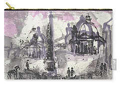 Carry-all Pouch featuring the painting Piranesi Paraphrase No. 40, View Of The Piazza Del Popolo by Martin Stankewitz