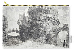 Carry-all Pouch featuring the painting Piranesi Paraphrase No. 41, Sepolcro Di Metella by Martin Stankewitz