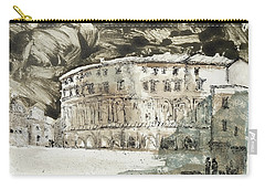 Carry-all Pouch featuring the painting Piranesi Paraphrase No. 45, Teatro Di Marcello by Martin Stankewitz