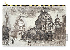 Carry-all Pouch featuring the painting Piranesi Paraphrase No.42, Veduta Delle Due Chiese by Martin Stankewitz