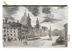 Carry-all Pouch featuring the painting Piranesi Paraphrase No.46, Piazza Navona by Martin Stankewitz