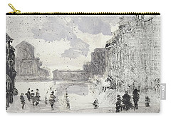 Carry-all Pouch featuring the painting Piranesi Paraphrase No.47, Veduta Della Vasta Fontana Di Trevi by Martin Stankewitz