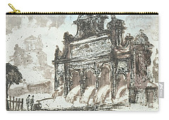 Carry-all Pouch featuring the painting Piranesi Paraphrase No85  by Martin Stankewitz