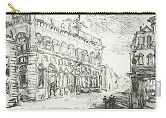 Carry-all Pouch featuring the painting Piranesi Paraphrase Palazzo Della Consulta On The Quirinal by Martin Stankewitz