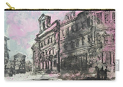 Carry-all Pouch featuring the painting Piranesi Paraphrase Palazzo Die Montecitorio by Martin Stankewitz