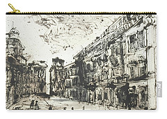 Carry-all Pouch featuring the painting Piranesi Paraphrase Palazzo Odescalchi by Martin Stankewitz