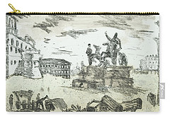 Carry-all Pouch featuring the painting Piranesi Paraphrase Piazza Die Monte Cavallo by Martin Stankewitz