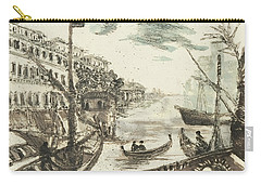 Carry-all Pouch featuring the painting Piranesi Paraphrase Porto Di Ripa Grande by Martin Stankewitz
