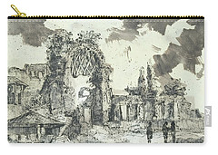 Carry-all Pouch featuring the painting Piranesi Paraphrase Ruins Of The Golden House Of Nero by Martin Stankewitz
