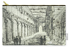 Carry-all Pouch featuring the painting Piranesi Paraphrase Saint Paolo Duori Delle Mura by Martin Stankewitz