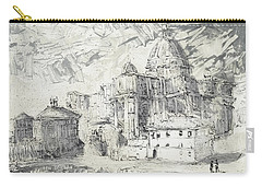 Carry-all Pouch featuring the painting Piranesi Paraphrase No. 50 Saint Peter ,rome by Martin Stankewitz