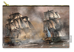 Pirate Battle Carry-all Pouch by Daniel Eskridge