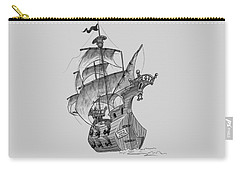 Pirate Ship Carry-all Pouch by Andy Catling