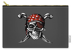 Skull 8 T-shirt Carry-all Pouch by Herb Strobino