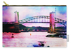 Piscataqua River Bridge From Harborwalk Park, Portsmouth New Hampshire Carry-all Pouch