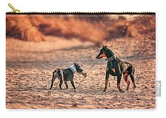 Pitbull And Doberman Carry-all Pouch