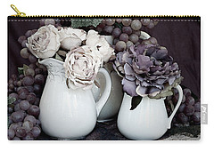 Carry-all Pouch featuring the photograph Pitchers And Tapestry by Sherry Hallemeier