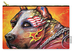 Pit Bull Carry-all Pouch by Patricia Lintner