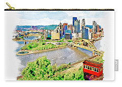 Pittsburgh Aerial View Carry-all Pouch by Marian Voicu
