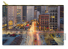 Carry-all Pouch featuring the photograph Pittsburgh Cultural District by Emmanuel Panagiotakis