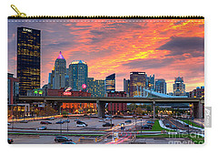 Carry-all Pouch featuring the photograph Pittsburgh From The Strip by Emmanuel Panagiotakis