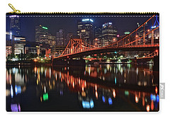 Pittsburgh Lights Carry-all Pouch by Frozen in Time Fine Art Photography