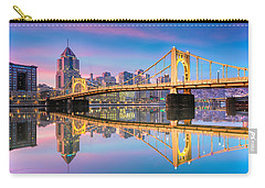 Carry-all Pouch featuring the photograph Pittsburgh North Shore Reflections  1 by Emmanuel Panagiotakis