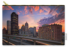 Carry-all Pouch featuring the photograph Pittsburgh Skyline  60 by Emmanuel Panagiotakis