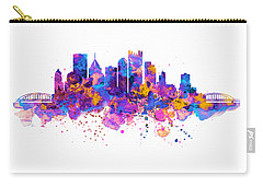 Pittsburgh Skyline Carry-all Pouch by Marian Voicu