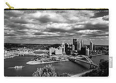 Pittsburgh Skyline With Boat Carry-all Pouch