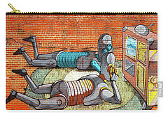 Carry-all Pouch featuring the photograph Pixel Pancho Mural by Jean Haynes