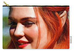 Carry-all Pouch featuring the photograph Pixie by Kathy Baccari