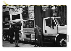 Pizza Oven Truck - Chicago - Monochrome Carry-all Pouch by Frank J Casella