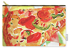 Carry-all Pouch featuring the painting Pizza Pizza by Paula Ayers