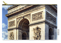 Carry-all Pouch featuring the photograph Arc De Triomphe # 2 by Mel Steinhauer