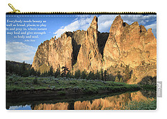Carry-all Pouch featuring the photograph Places To Pray And Play In by Lynn Hopwood