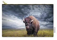 Plains Buffalo On The Prairie Carry-all Pouch