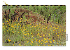 Carry-all Pouch featuring the photograph Plains Coreopis by Maria Urso