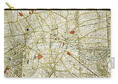 Carry-all Pouch featuring the photograph Plan Of Central London by Patricia Hofmeester