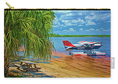 Carry-all Pouch featuring the photograph Plane On The Lake by Lewis Mann