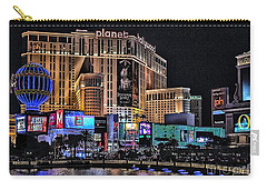 Planet Hollywood And Paris At Las Vegas Carry-all Pouch