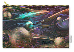 Carry-all Pouch featuring the digital art Planetary Chaos by Linda Sannuti