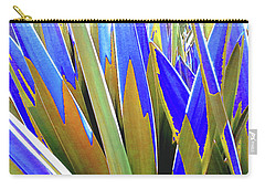 Carry-all Pouch featuring the photograph Plant Burst - Blue by Rebecca Harman
