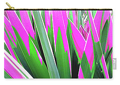 Carry-all Pouch featuring the photograph Plant Burst - Pink by Rebecca Harman