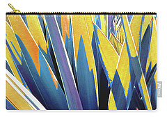 Carry-all Pouch featuring the photograph Plant Burst - Yellow by Rebecca Harman